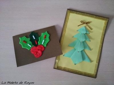 DIY: Dos Opciones de crear Postales Navideñas | LaMaletadeRayas
