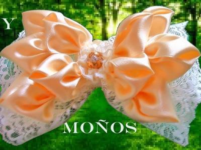 DIY  moños y lazos para el cabello en cintas - ribbons and bows in satin ribbons
