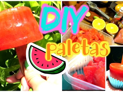 DIY PALETAS DE SANDIA ❤️ -tutorial (marianalugowest)