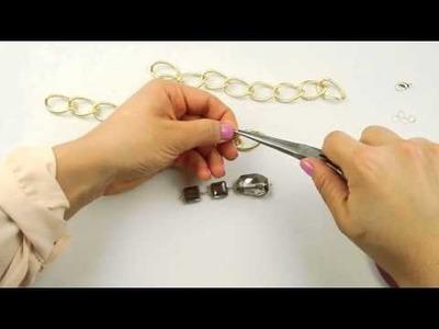 El Galeón DIY Collar de Cadena Dorada con Cristal Premium