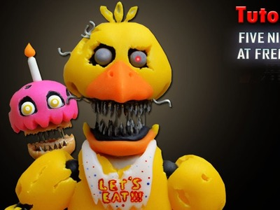 FNaF 4 ★ Nightmare Chica Tutorial - Porcelana fria ★ Polymer clay