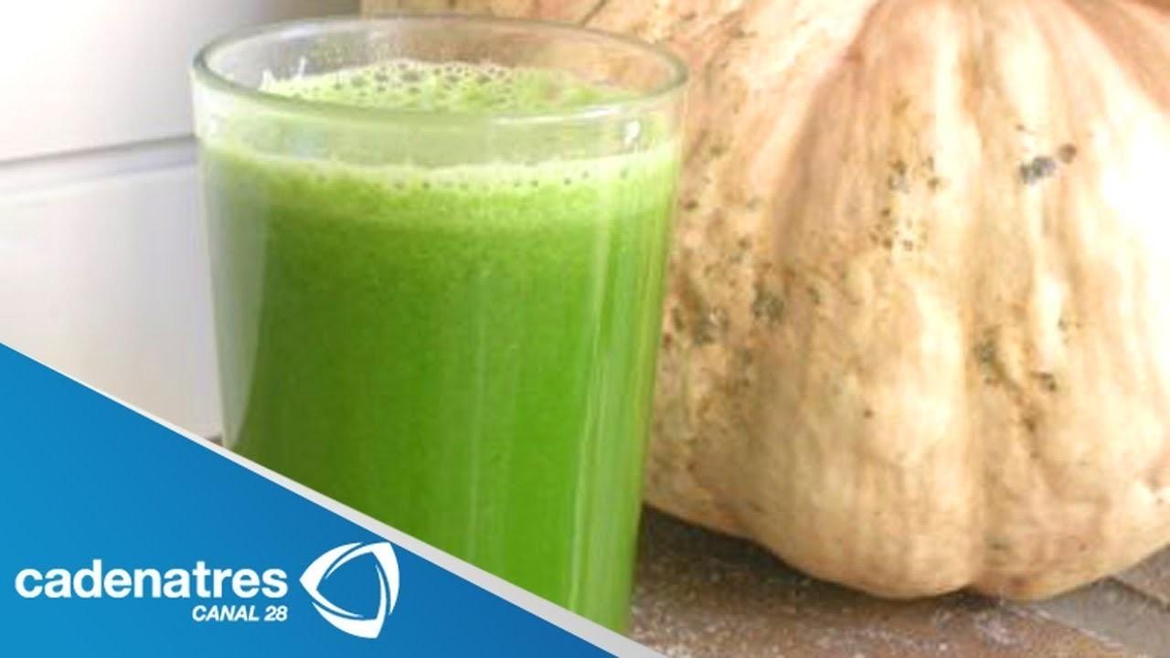 Licuado para tener un vientre plano y mejorar la circulación y digestión. DELICIOSO jugos verdes