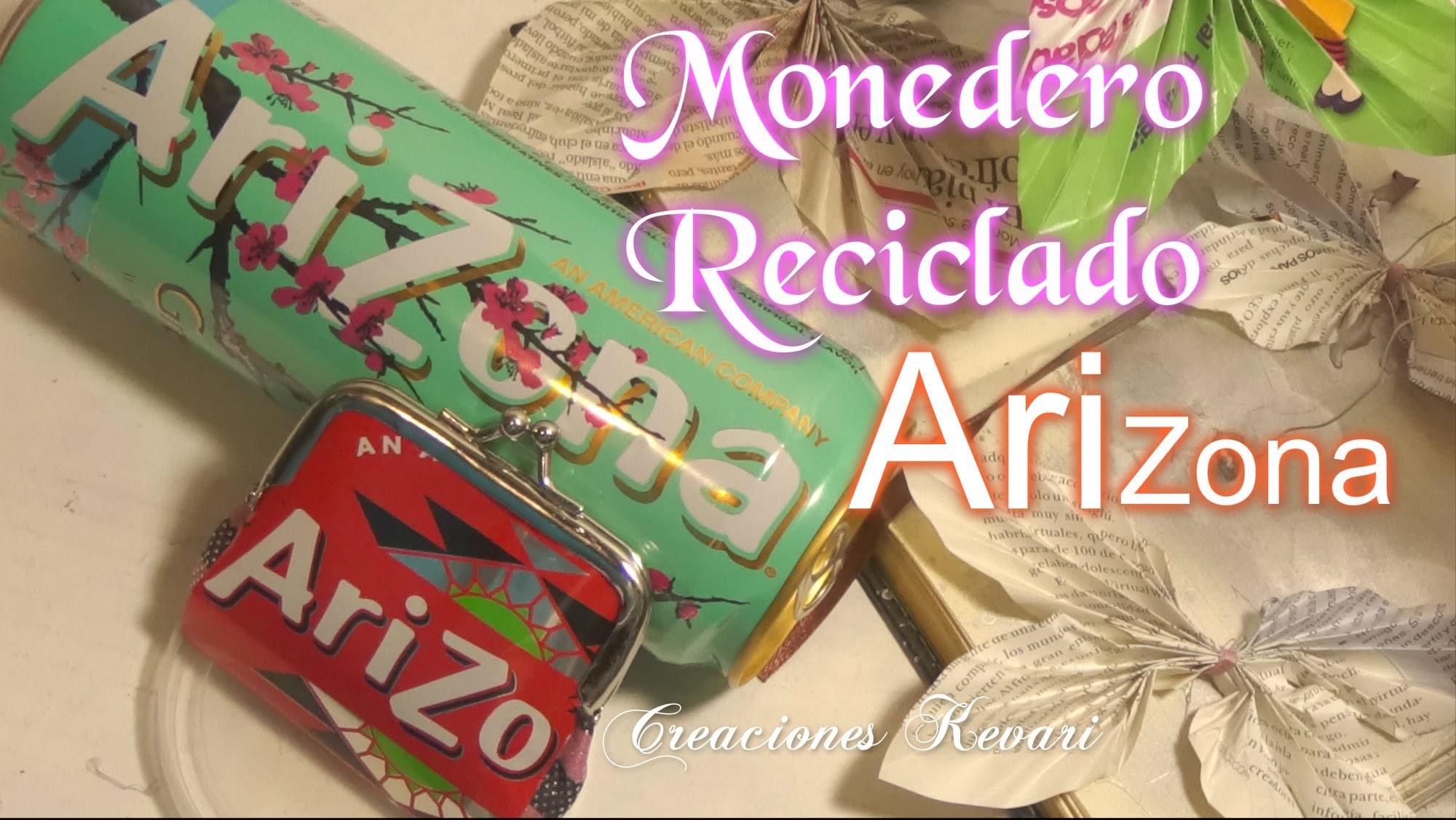 Monedero Reciclado con latas Arizona DIY.Tutorial: make a coin purse