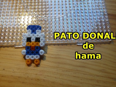 PATO DONALD  de hama pyssla perler