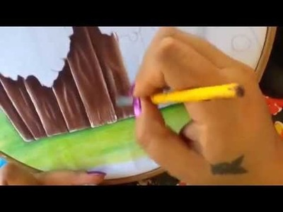 Pintura en tela mariquita # 2 con cony