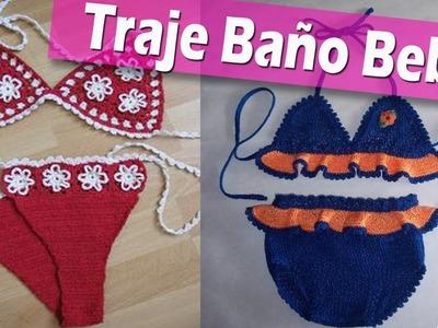 Traje de Baño Para Bebe - Tejidos a Crochet Ganchillo Imagenes
