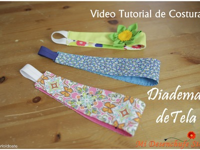 Tutorial #5 - Como hacer Diademas de Tela - How to make a headband fabric