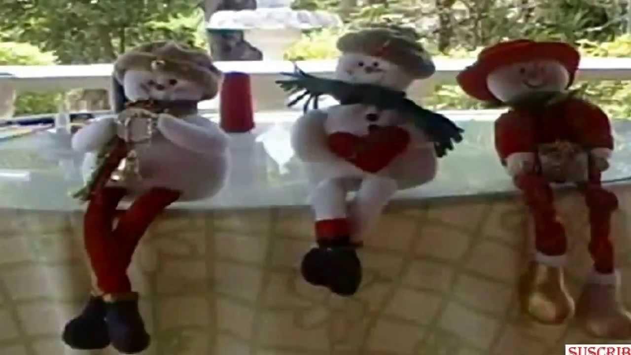 Adornos de navidad. Muñeco de nieve