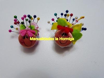 Alfiletero miniatura figura mariquita paso a paso ideas faciles para negocio. regalos