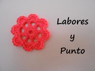 Aprende a tejer una flor a ganchillo