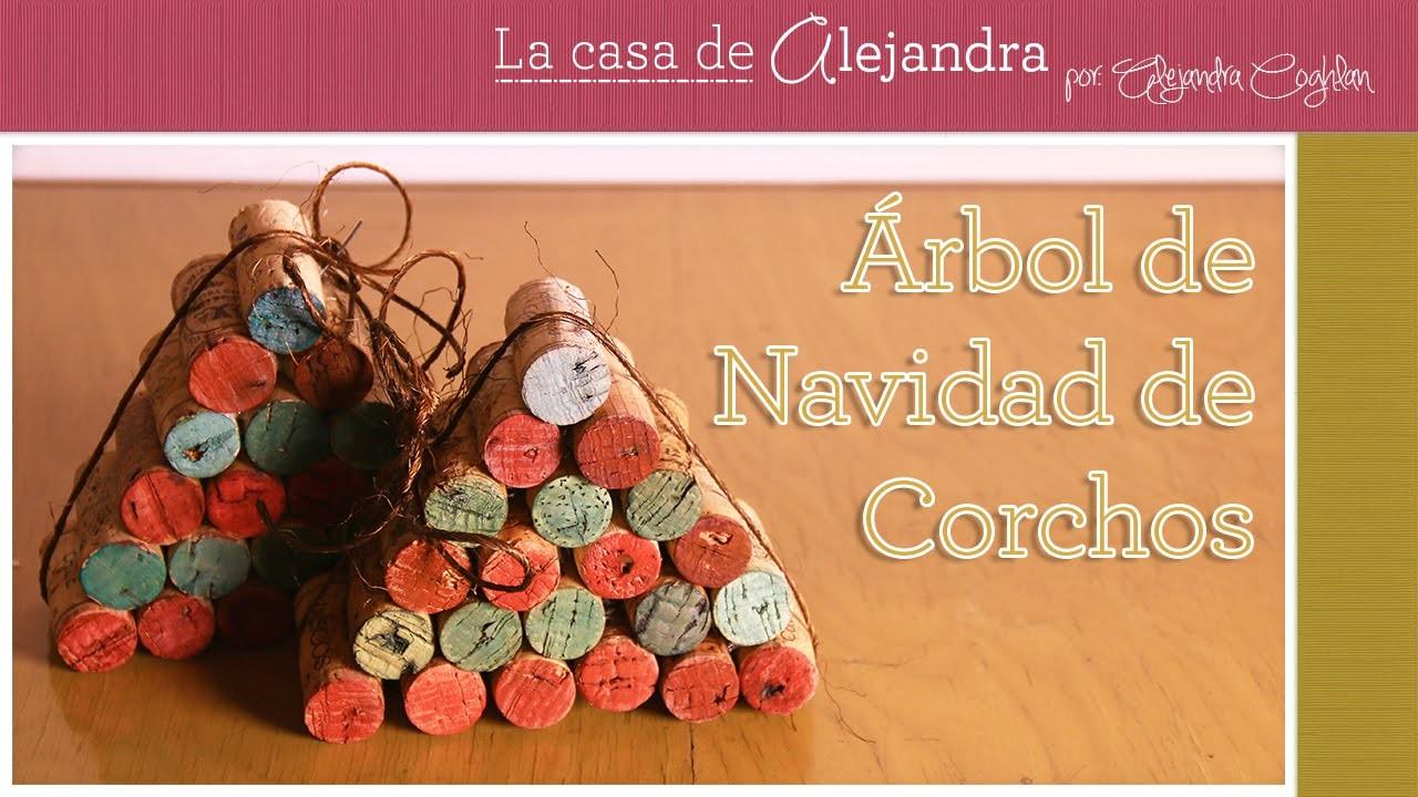 Arbol de Navidad de Corchos DIY Alejandra Coghlan