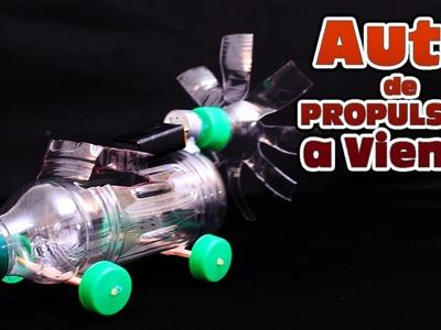 Auto casero de propulsión a viento