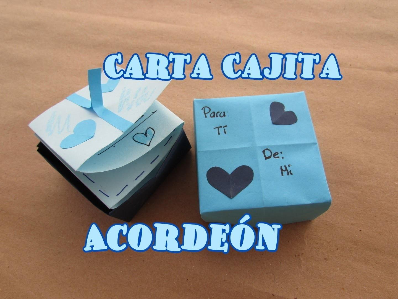 Caja Cartita Acordeón. Letter Box Accordion