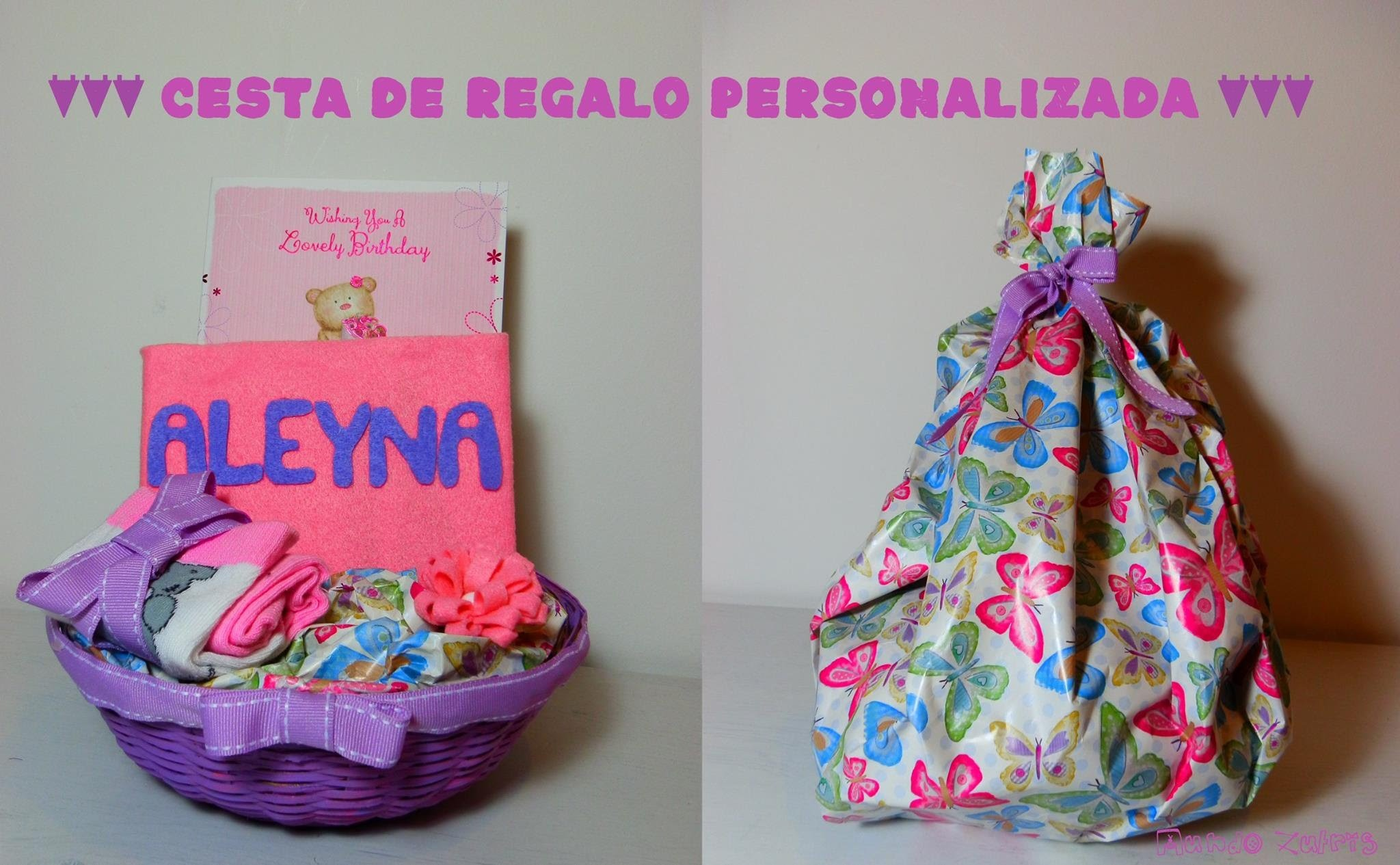 Cesta de regalo personalizada - personalized gift basket