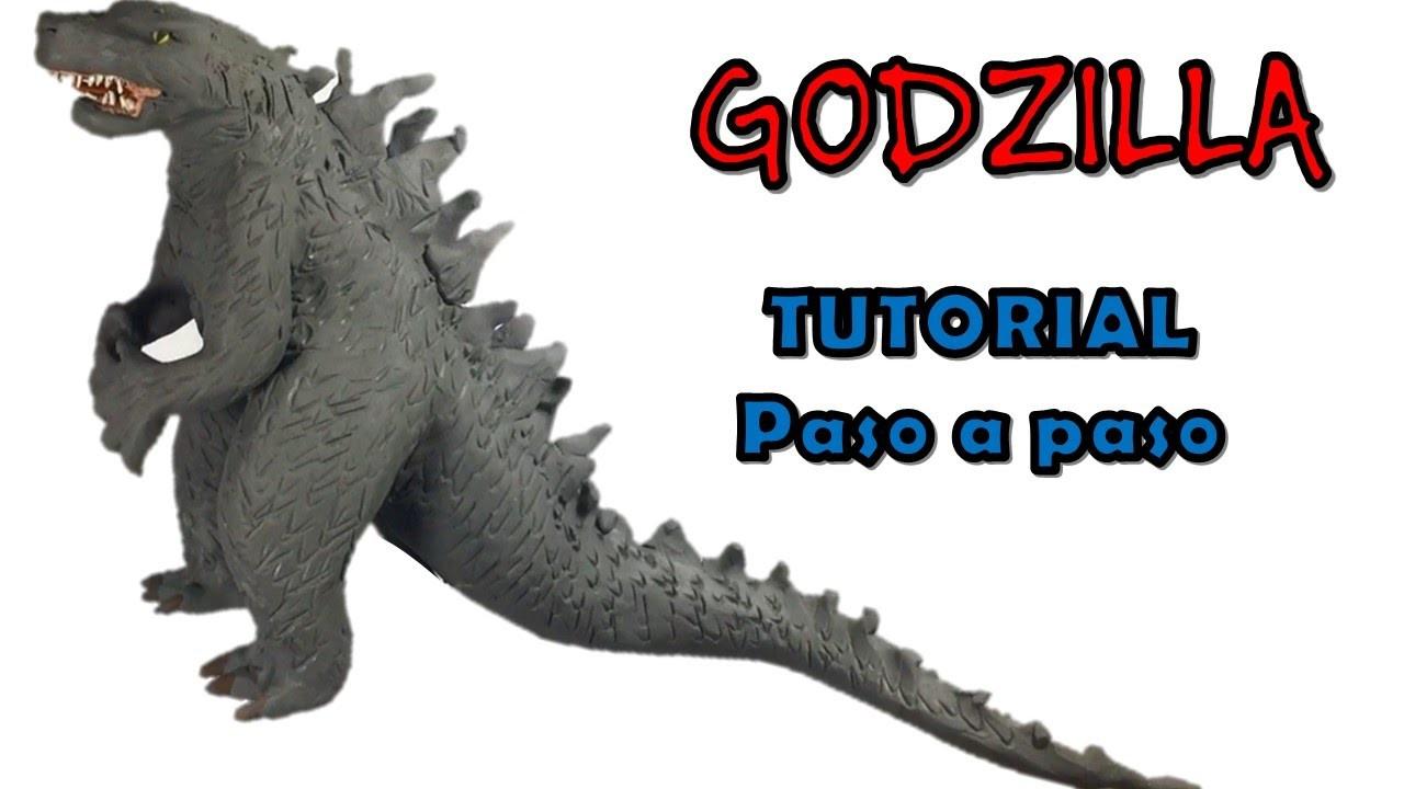 Como hacer a Godzilla de plastilina. How to make a Godzilla with clay