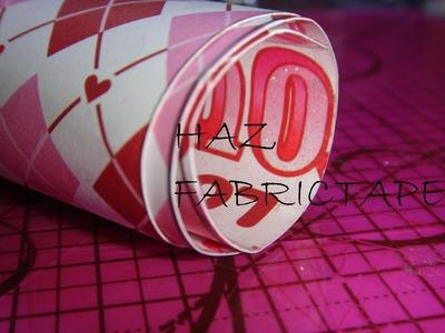 Cómo hacer fabric tape con papel MANUALIDADES CON LUNA [episodio 9]
