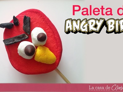 Cómo hacer paletas de Angry Birds de malvavisco - How to make Angry Birds pops