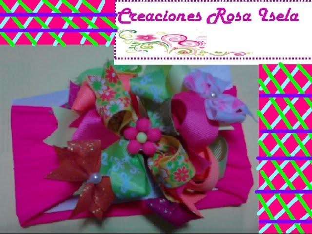 Como hacer una tiara bonita para bebes | CREACIONES ROSA ISELA