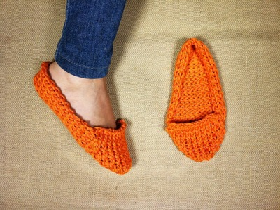 Cómo hacer unas pantuflas con telar circular (Tutorial DIY)
