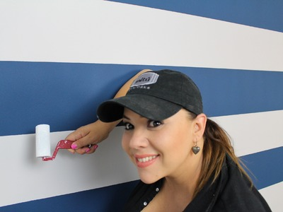Como Pintar rayas en la pared. How to paint stripes on your walls