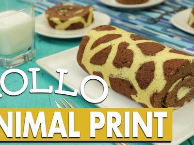 ¿Cómo preparar Rollo de Animal Print con Relleno de Plátano? - Cocina Fresca