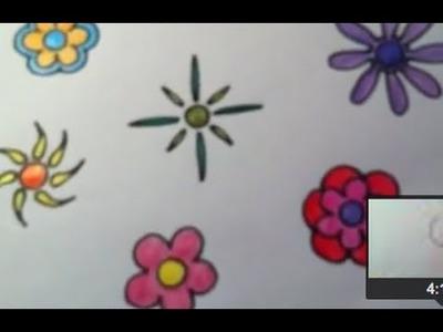 Dibujar flores Funky Muy fácil