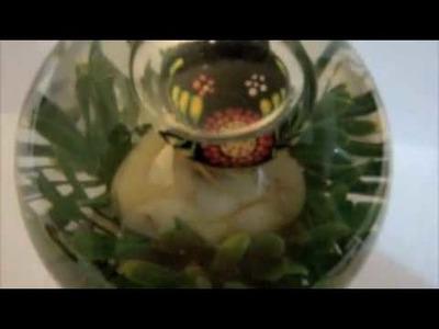 Esferas de agua con artesanías oaxaqueñas