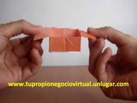 Origami Cómo hacer una caja de papel fácilmente