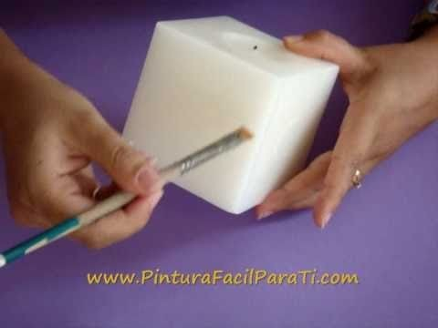 *Paint a Candle* Tutorial Como Pintar Velas 1 - Pintura Facil Para Ti.wmv