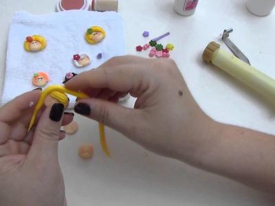 Paso a paso de caritas  miniatura en porcelanicron. apliques masa flexible