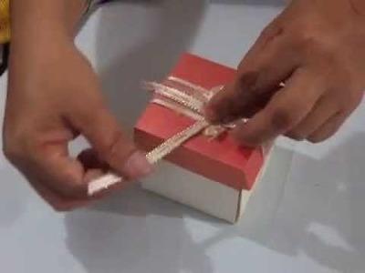 Paso a paso de como hacer una caja recordatorio con tarjeta de invitación de matrimonio