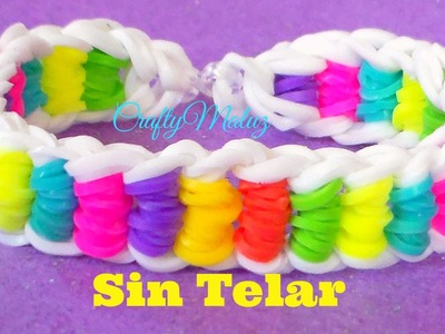 Pulsera cadena de bicicleta de gomitas o ligas sin telar- bicycle chained bracelet without loom