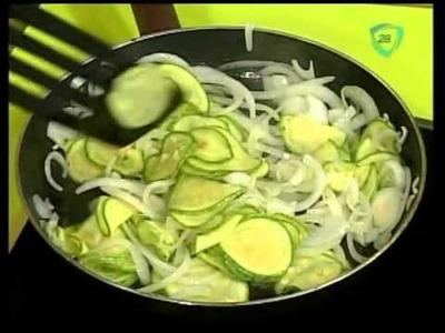 Recetas vegetarianas: Quiche de Calabacin cocinando con Ariadna Tapia
