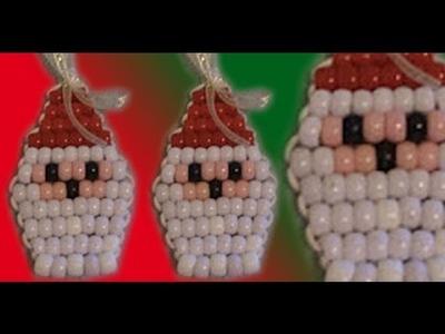 Santa con cuentas (hermosa y original idea la navidad)