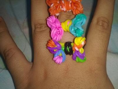 Tutorial de como hacer anillo en forma de lazo con gomitas (sin telar)