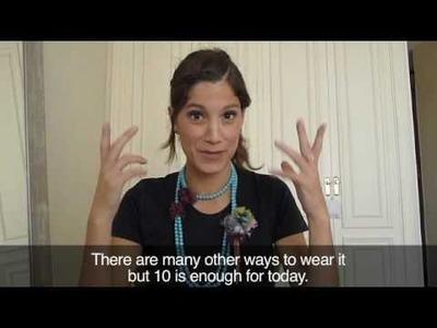 10 Formas de ponerse un collar
