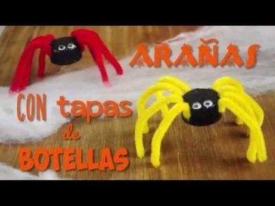 Arañas con tapas de botellas | @iMujerHogar