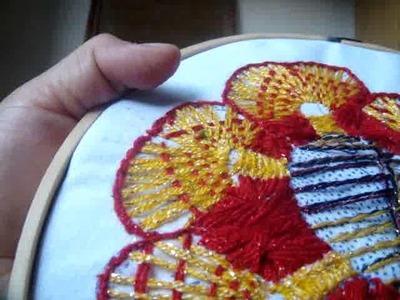 Bordado fanasia  pistilos flor de hilo marimur  449