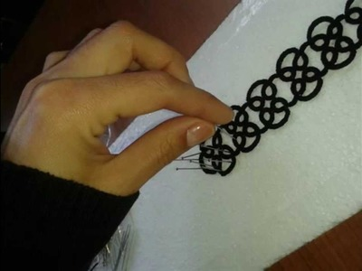 COMO ENDURECER UNA PULSERA DE TATTING O FRIVOLITE.HARD AS A BRACELET Tatting