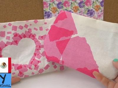 Como hacer un bolso con tela sin costuras - muy fácil - DIY bolsa