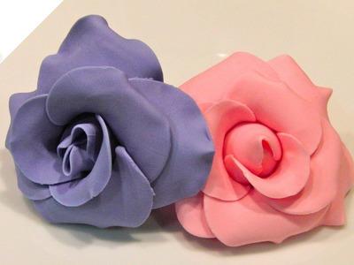 Cómo modelar Rosas con pasta de flores (II) | Modelado con Pasta de Flores por Azúcar con Amor