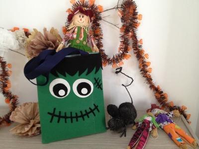 Especial de Halloween: como hacer Bolso kawaii de frankenstein DIY
