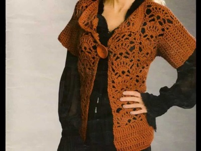 Saco ligero manga corta  a crochet