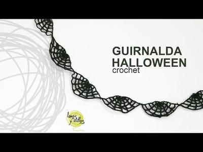Tutorial Guirnalda Halloween Telaraña Crochet en Español