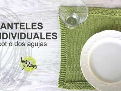 Tutorial Manteles Individuales Tricot en Español