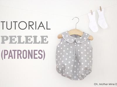Tutorial y patrones: Pelele de lunares para bebe DIY