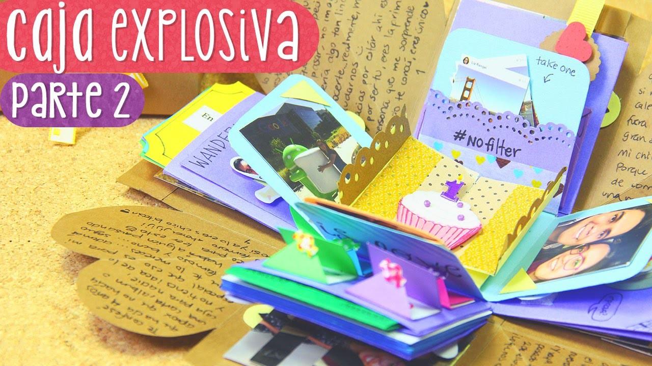 CAJA SORPRESA con laberinto - Tutorial Parte 2 (Exploding Box)  ✄ Craftingeek