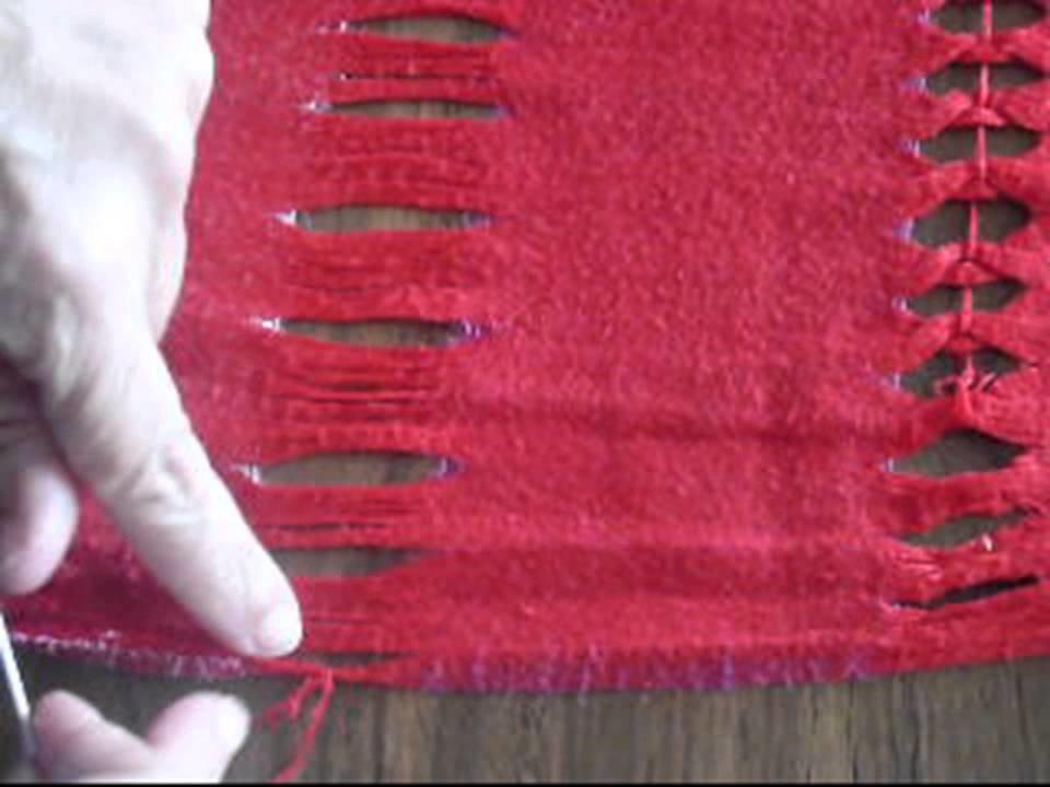 Cómo coser  una vainica para darle estilo a un pañuelo