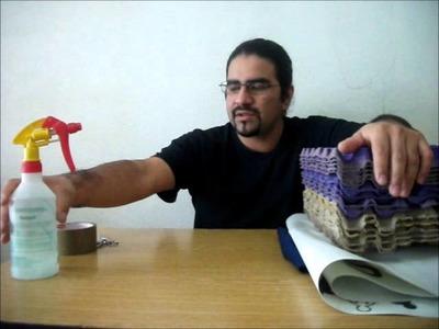 Como hacer un Taburete de cubo - Ecolocadas Recicrea2 # 7