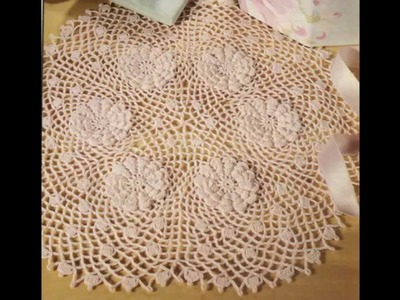 Como Tejer Carpeta Flor de Algodón a crochet 8